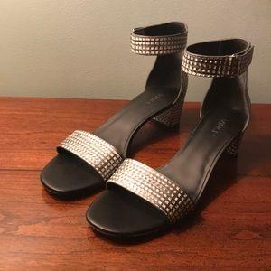 VINCE. Rita embossed ankle strap sandals